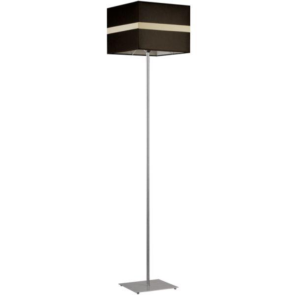 Nowoczesna Lampa Stojąca Podłogowa Linea Ciemny Brąz – Sklep Lampex - 396 PLN