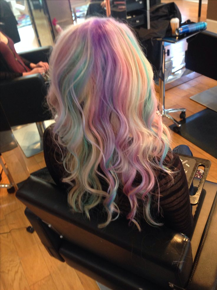 My little pony hair pastel rainbow hair pravana pastel