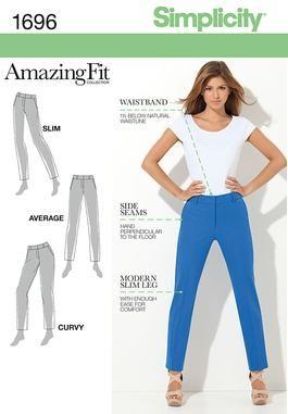 Simplicity Creative Group - Misses' & Miss Petite Amazing Fit Pants