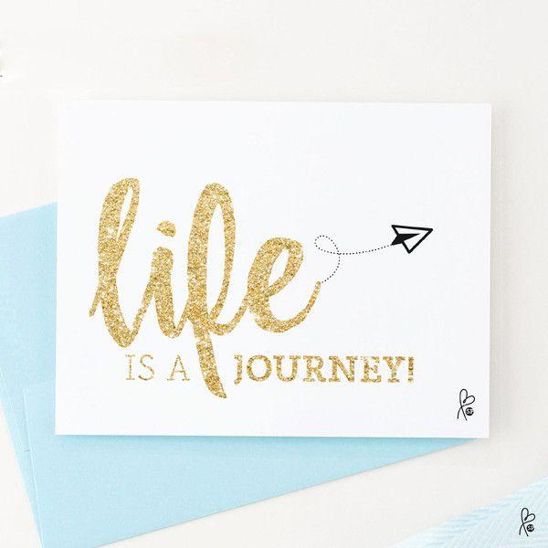 """Grüße - Karte """"life is a journey"""" / Printable A6 - ein Designerstück von sppiy…"""