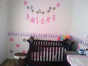 Polka dot and Tatty Teddy wall decor
