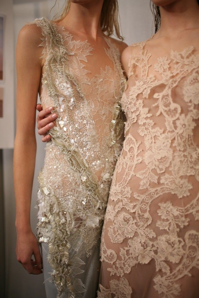 shimmering lace
