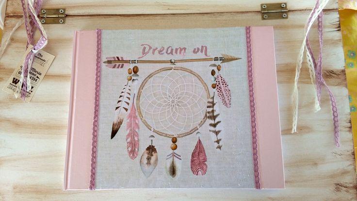 handmade wishing book for christening