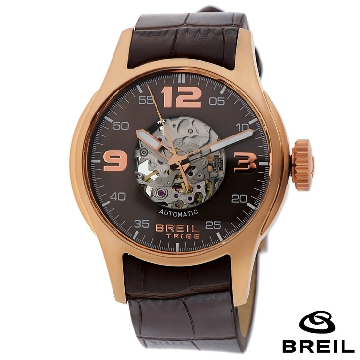 17 best images about watches men s watches black breil tribe stainless steel case brown leather band mens watch tw0568 brown mineral dial