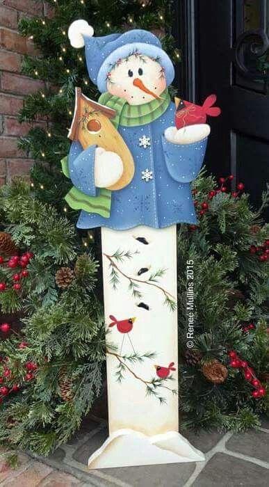 Muñeco de nieve en madera mdf