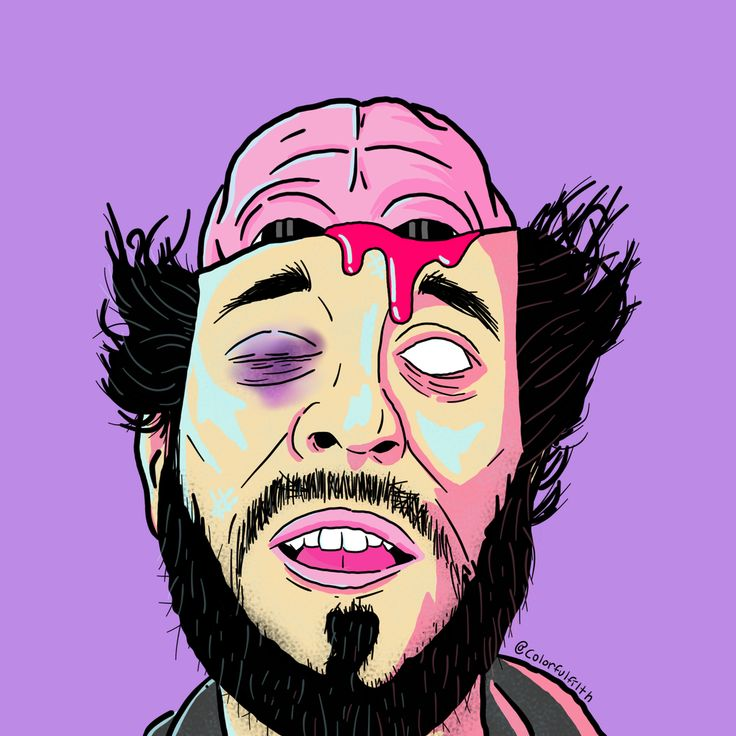 Lil Dicky And His Brain, @colorfulfilth, Digital, 2017