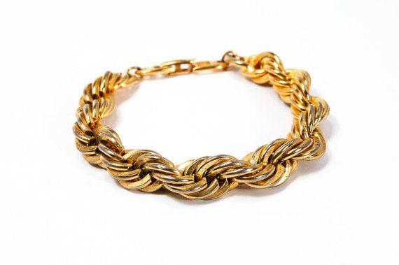 Napier Gold Rope Chain Bracelet by VintageMeetModern on Etsy #GotVintage  #Vintage  #Jewelry