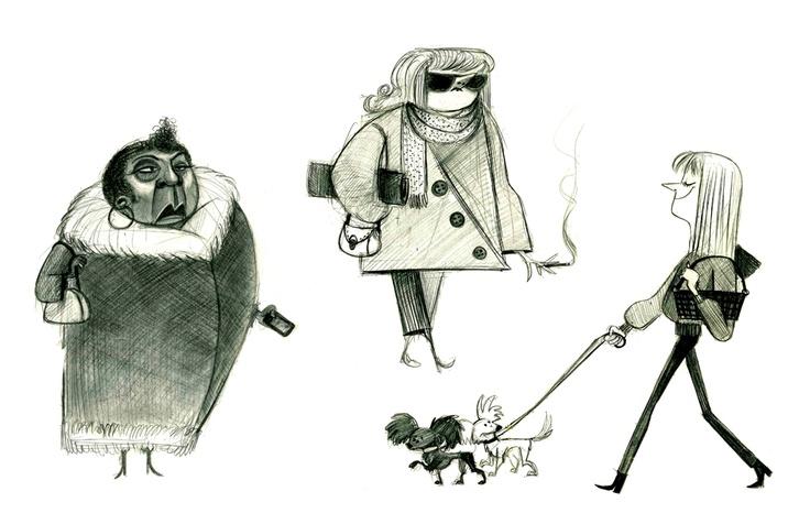 I love these illustrations by: Avner Geller http://avnergeller.blogspot.com/#