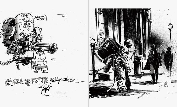 Zawa-zawa: Treasured Art Works of Ashley Wood #Painting #Sketch #Threea #Toy #Ashley #Wood #Drawing #Comic #Illustration #Robot #Zawazawa #Figure