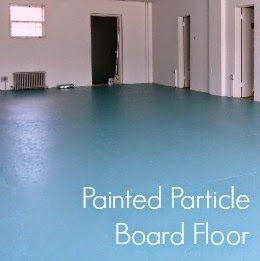 Dans Le Lakehouse Diy Painted Particle Board Floor Mmmm Teal Flooring Stairs In 2019 Paint