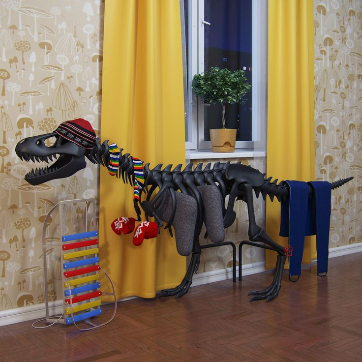 Dino Radiator...if I have a son someday...this will be in his room...so cool!
