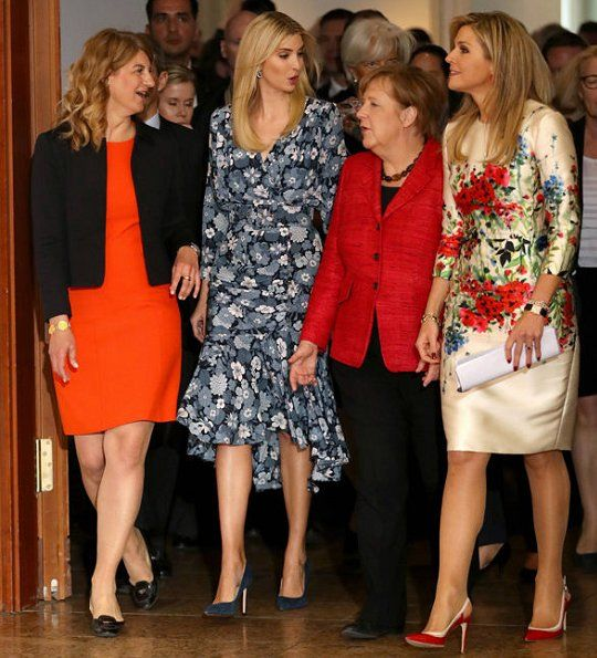 Queen Maxima of The Netherlands attended the W20 conference on April 25, 2017 in Berlin, Germany. The conference, part of a series of events in connection with Germany's leadership of the G20 group of nations this year, focuses on women's empowerment, especially through entrepreneurship and the digital economy