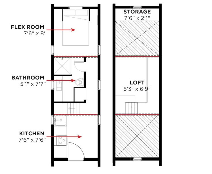 1000 images about tiny house ground floor bedroom on for Tumbleweed floor plans