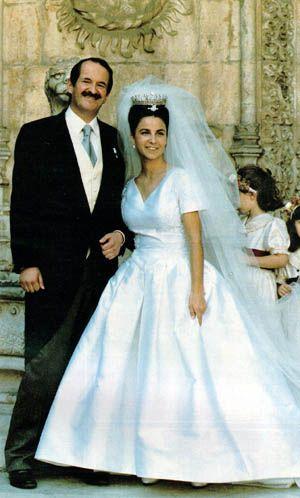 Dom Duke of Portugal, Duke of Braganza and Dona Isabel de Heredia married 1995