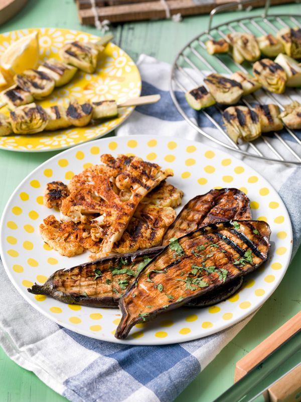 Bloemkoolsteaks met ras el hanout, koriander en limoen