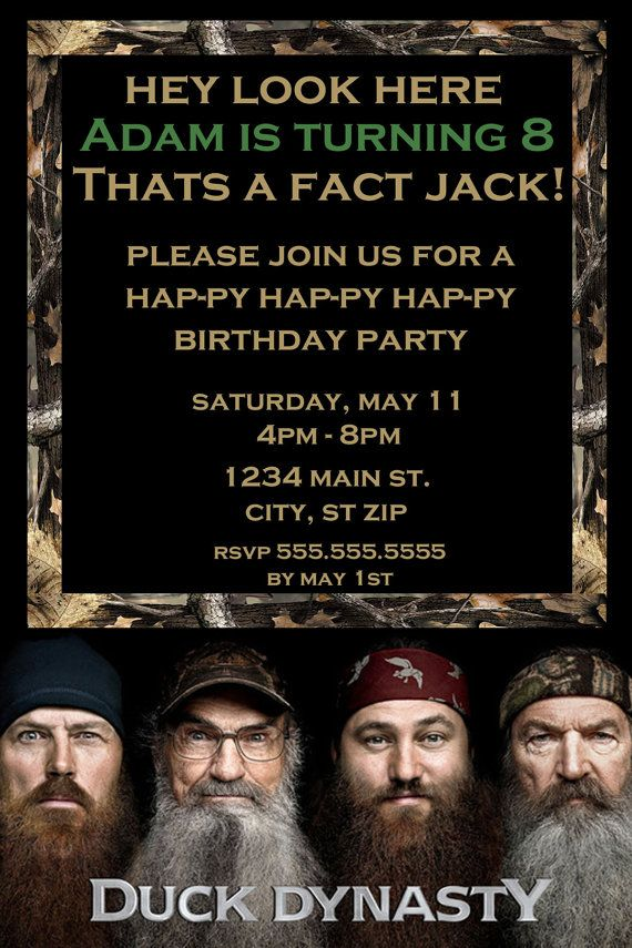 Perfect duck dynasty birthday party invitations photo invitation fine duck dynasty party invitations collection invitations and best 11 alissa birthday party ideas images on pinterest birthday filmwisefo
