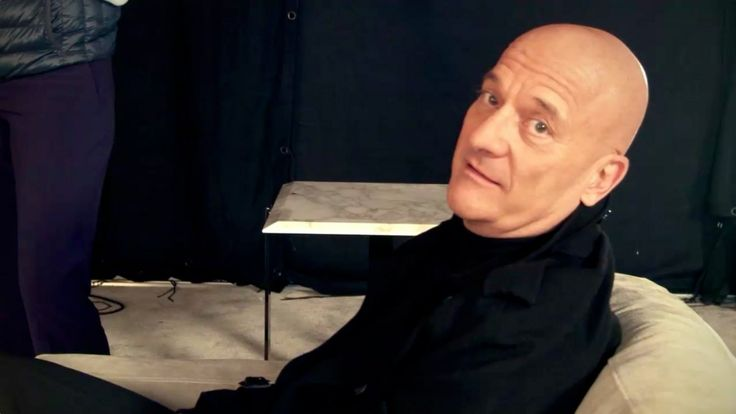 During TV shooting - backstage with Claudio Bisio.