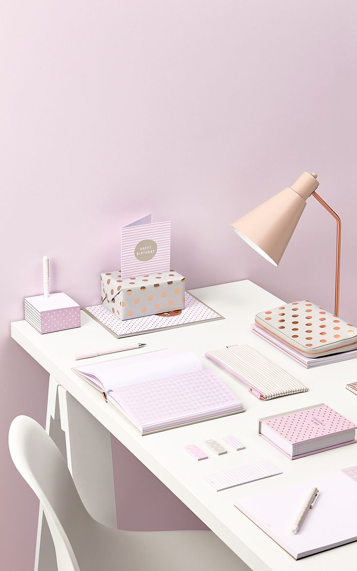 Create an inspiring workspace with our new Oh So Lovely Collection, featuring gorgeous lilac and copper polkadots. Discover beautiful Swedish stationery at kikki.K.
