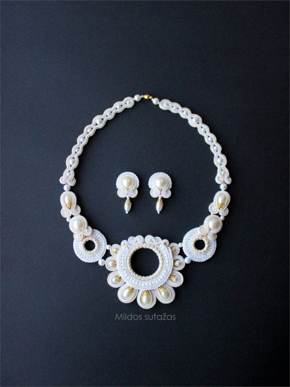 Handmade jewelry set   necklace and earrings от Mildossutazas