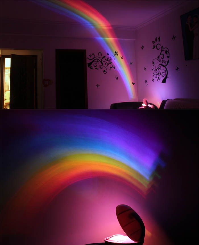Egg Shaped Room Romantic Rainbow Projector LED Night Light / Lamp Decoration Sleeping Lamp-9.33 and Free Shipping | GearBest.com Mobile