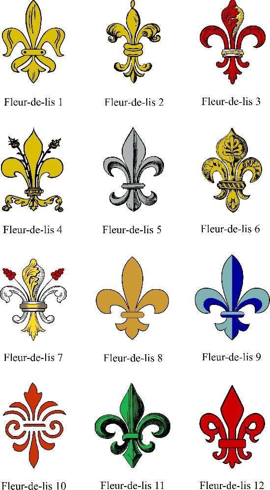Various Fleur de lis