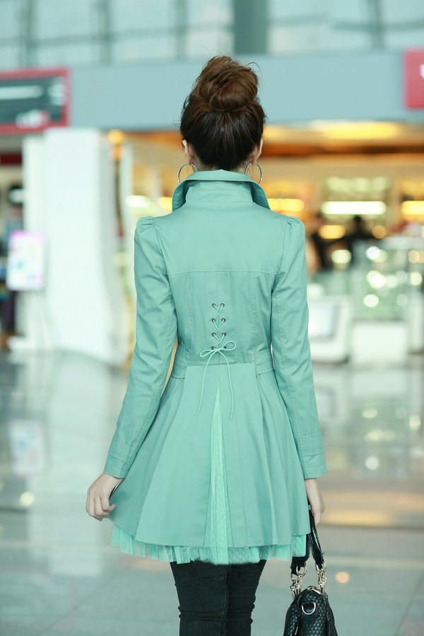 Cute modest trench coat #hintofmint