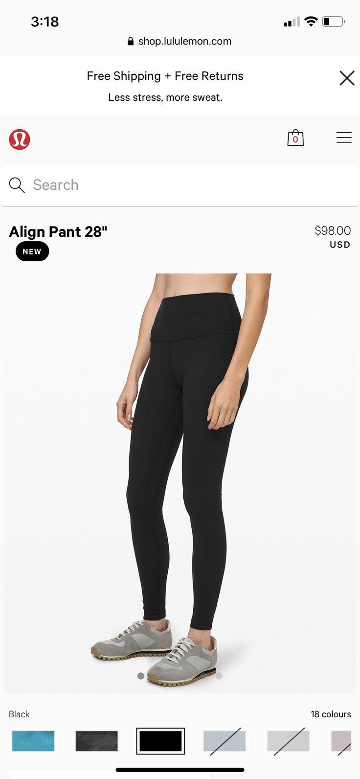 Lululemon align pant, black, size 6 Lululemon align pant