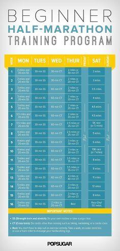 Half-Marathon Training Schedule For Beginners | POPSUGAR ...