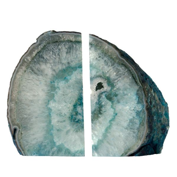 #teal #agate #crystal #bookends #gift #present