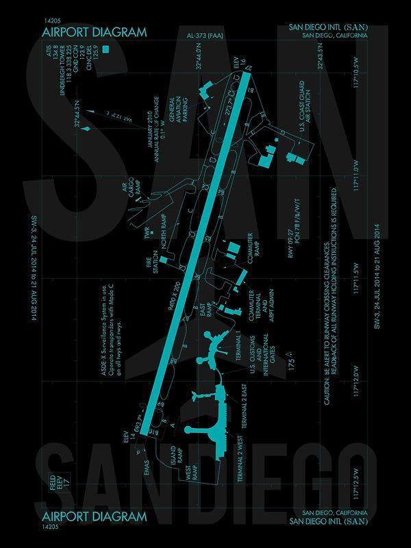 SAN San Diego Airport Diagram u0027 174