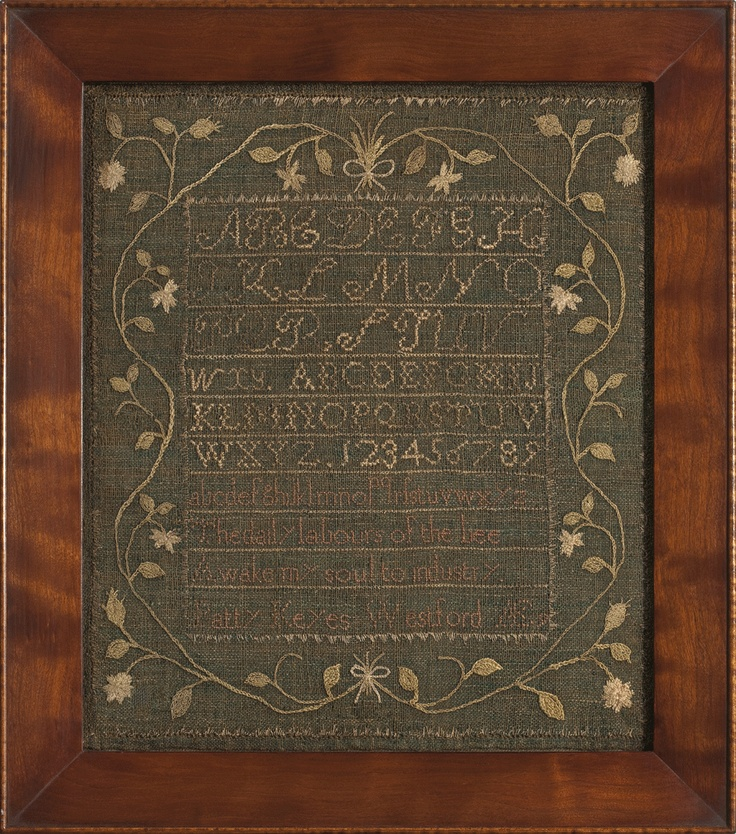 Patty Keyes, age 9, Westford, Massachusetts,Linsey-Woolsey Sampler, 1806, M. Finkel and Daughter