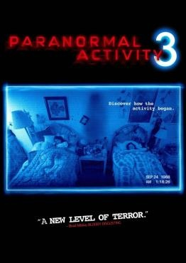 Paranormal Activity 3 (2011), Paramount Pictures, Blumhouse Productions, and Solana Films with Lauren Bittner, Christopher Nicholas Smith, Chloe Csengery, and Jessica Tyler Brown. Lots of boos and bumps in the night. Well done.