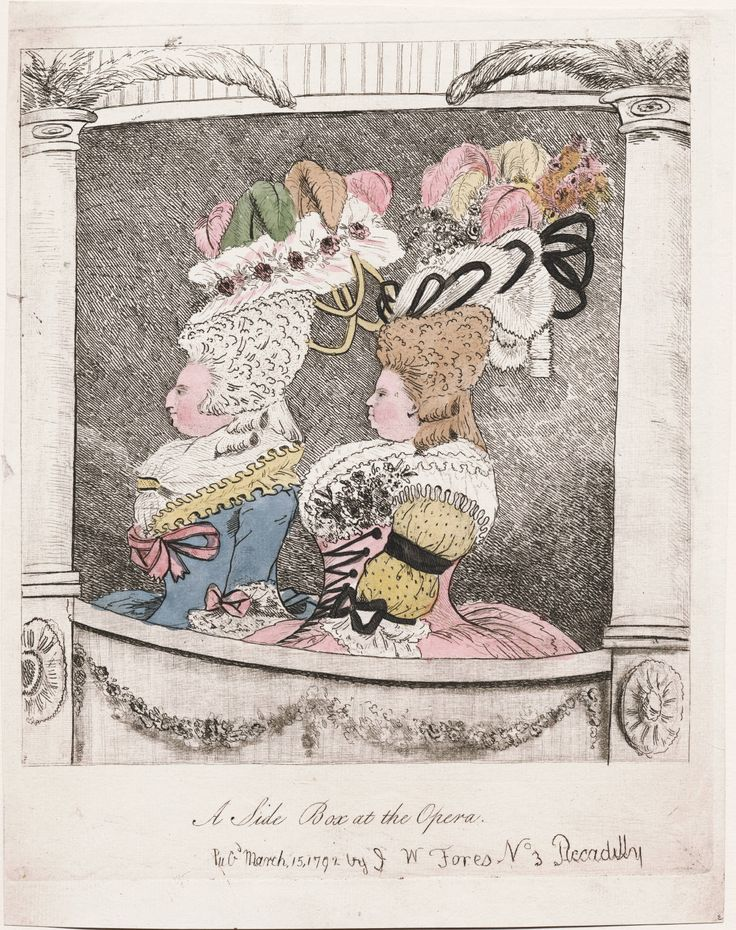 A Side Box at the Opera, March, 15, 1792/April 14, 1784, Lewis Walpole Library Digital Collection