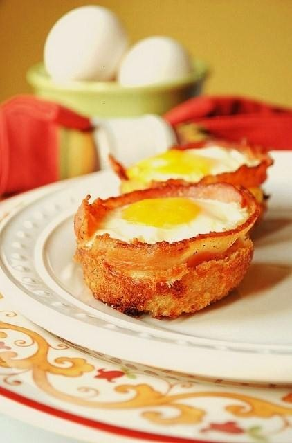 bacon and egg cups | Yummy Deliciousness | Pinterest