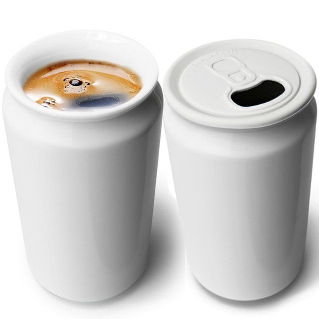 (2) Fancy - Cuppa-Can Double Walled Porcelain Mug