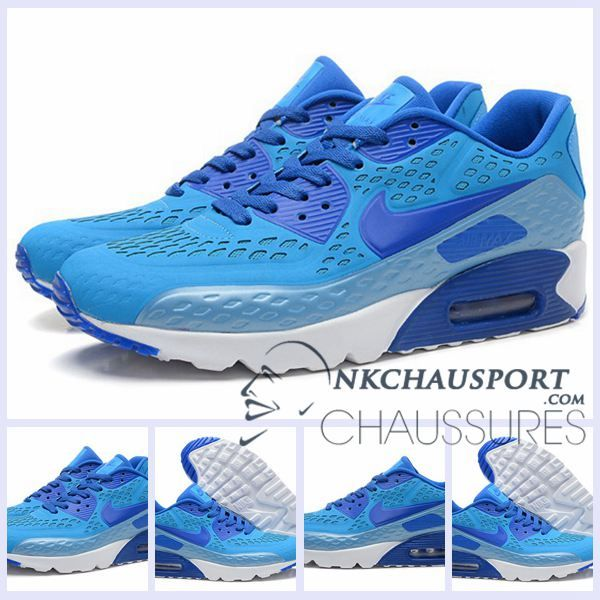 Nike Air Max 90 2016 | Meilleur Chaussures Running Homme Bleu-3
