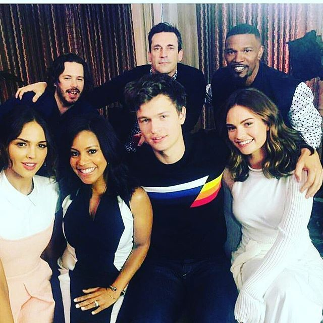 NEW| Press tour for Baby Driver movie is on! Gaaah! They are at Los Angeles promoting and doing interviews. Lily looks too adorable in this pictures with the rest of the cast [6.10.17]😍 Baby Driver out on June 28! Yasss @lilyjamesofficial @ansel @eizagonzalez @iamjamiefoxx @edgarwright 🚗🚗🚗💨💨💨 #BabyDriverMovie #EdgarWright #LilyJames #AnselElgort #EizaGonzales #JonHamm #JamieFoxx #KevinSpacey #MustWatch #BestMovie2017 #Hollywood #Celebrity