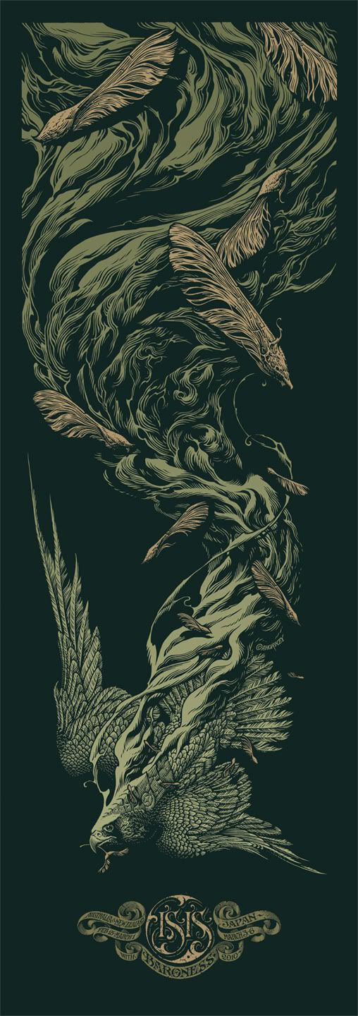 Besides the sports show, it was kind of a slow week for posters, but next week is already looking very promising. Aaron Horkey's beautiful Isis / Baroness tou.