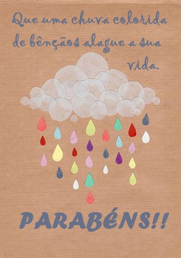 mensagem de aniversario para prima - que uma chuva de bençãos