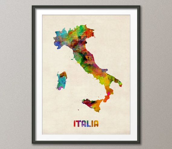 Hey, I found this really awesome Etsy listing at https://www.etsy.com/listing/156321858/italy-watercolor-map-italia-map-art