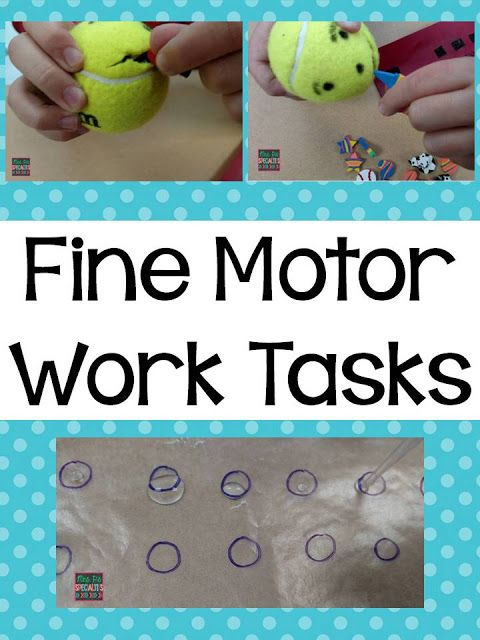 Mrs. P's Specialties!: Fine Motor Work Tasks