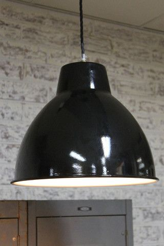 Loft ceiling pendant light with a cage guard - vintage industrial style lighting from Fat Shack Vintage - Fat Shack Vintage - Fat Shack Vintage