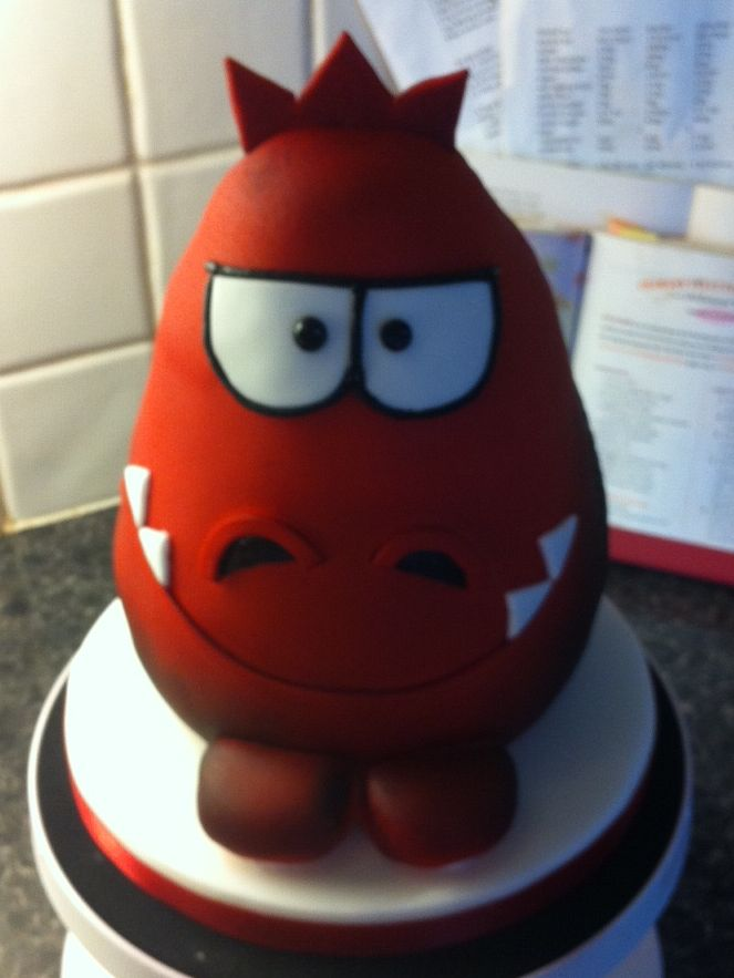 Red Nose Day 2013 DinoRoar Cake created for Comic Relief