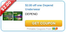 Tri Cities On A Dime: SAVE $4.00 WITH 2 COUPONS ON DEPEND - UNDERWEAR / ...
