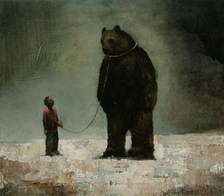 Visual artist Samuli Heimonen Chain. Acrylic and oil on canvas. 35cm x 40cm 2010