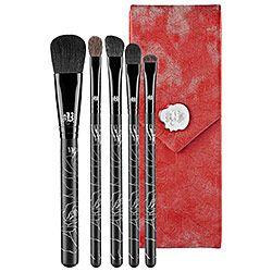 Sephora: Kat Von D : 5 Piece Brush Set With Case : brush-sets-makeup-brushes-applicators-makeup