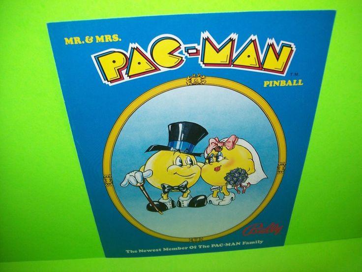 Bally MR & MRS PAC MAN 1980 Original Flipper Game Pinball Machine Sales Flyer #Bally