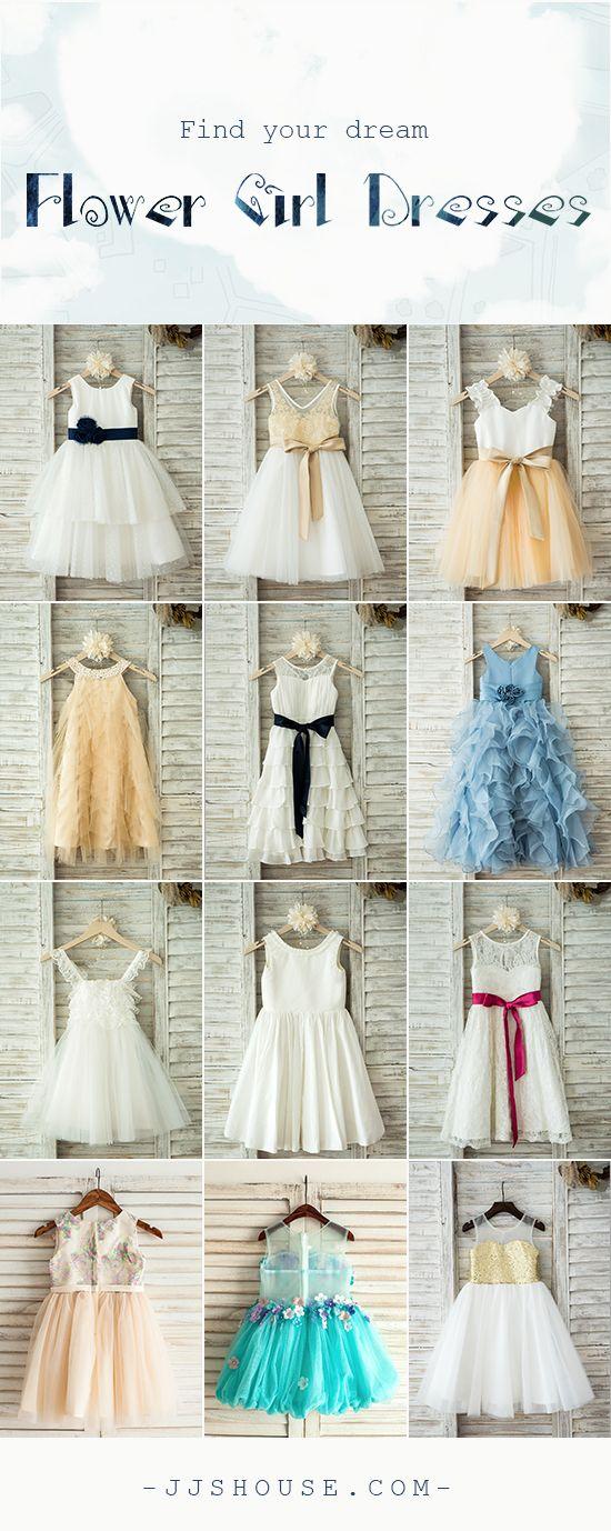 NEW ARRIVALS! Find your dream flower girl dresses. Affordable #flowergirldress