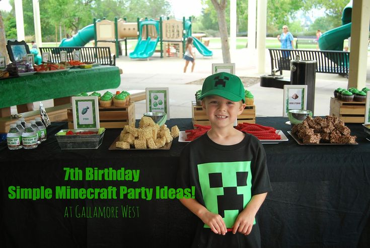 7th Birthday Party Simple Minecraft Party Ideas!