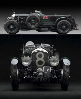 """Bentley 4 .5 Litre Supercharged:   """"Bond's car was his only personal hobby. One of the last of the 4.5 litre Bentleys with the supercharger by Amherst Villiers, he had bought it almost new in 1933 and had kept it in careful storage through the war. [...] Bond drove it hard and well and with an almost sensual pleasure. It was a battleship-grey convertible coupé, which really did convert, and it was capable of touring at ninety with thirty miles an hour in reserve.""""  Casino Royale, Ian Fleming"""